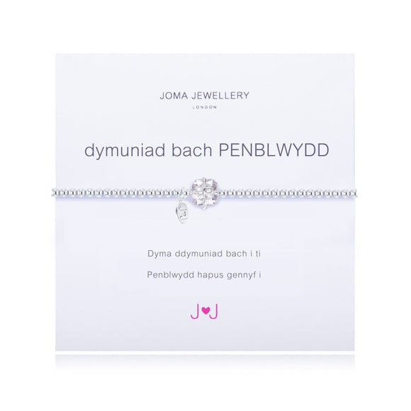 A Little Birthday Girl Welsh Bracelet by Joma Jewellery
