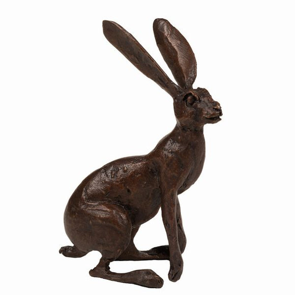 Frith Creative Bronze Solid Bronze Alert Hare