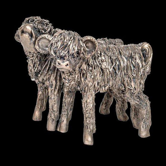 Frith Cold Cast Bronze Sculpture Heifers Highland Cattle