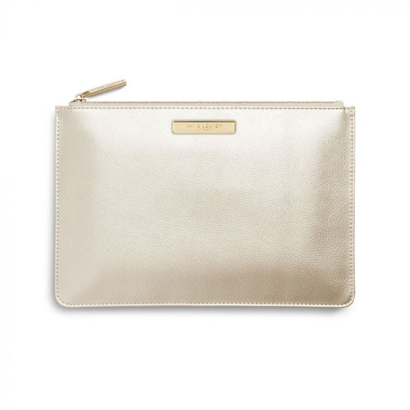 Katie Loxton Soft Pebble Perfect Pouch Metallic Champagne - Gifteasy Online
