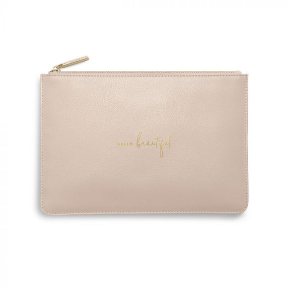 Katie Loxton Perfect Pouch | Hello Beautiful | Dusty Pink - Gifteasy Online