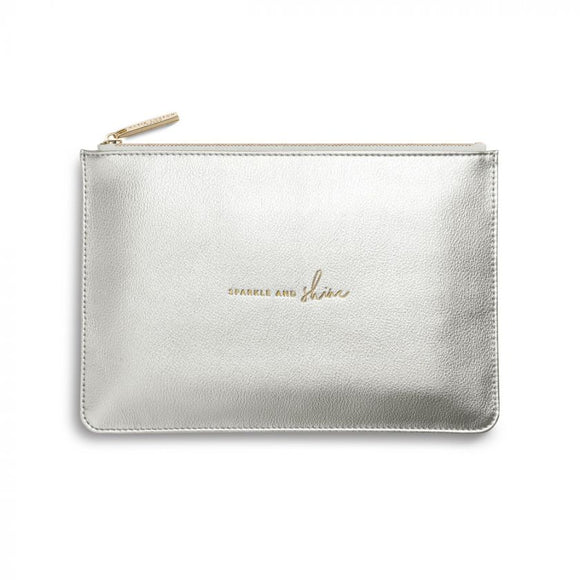 Katie Loxton Perfect Pouch Sparkle and Shine Metallic Silver - Gifteasy Online