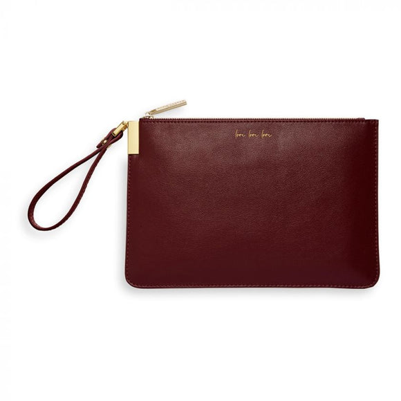 Katie Loxton Secret Message Pouch Burgundy - Gifteasy Online