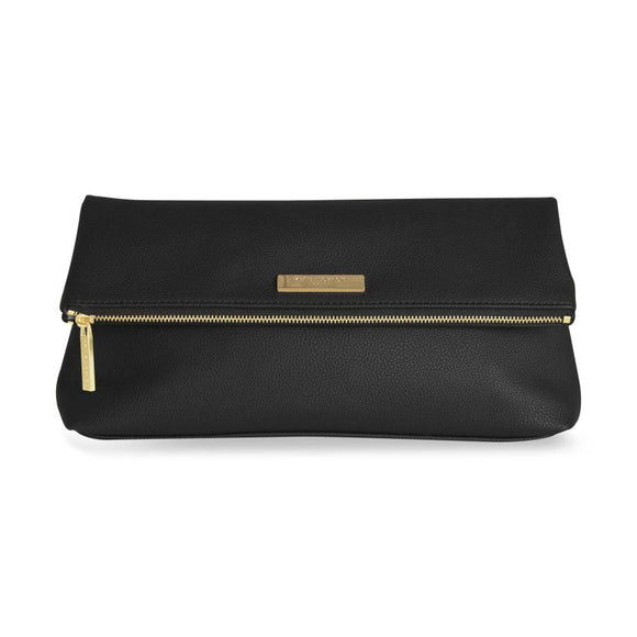 Katie Loxton   Alise Soft Pebble Fold Over Clutch | Black - Gifteasy Online