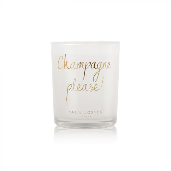 Katie Loxton Champagne Please Candle Pink Champagne and Sweetheart Strawberry - Gifteasy Online