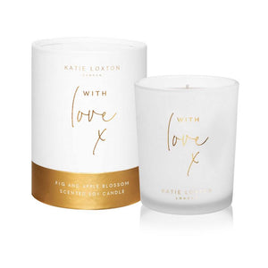 Katie Loxton With Love Scented Candle Apple Blossom and Fig