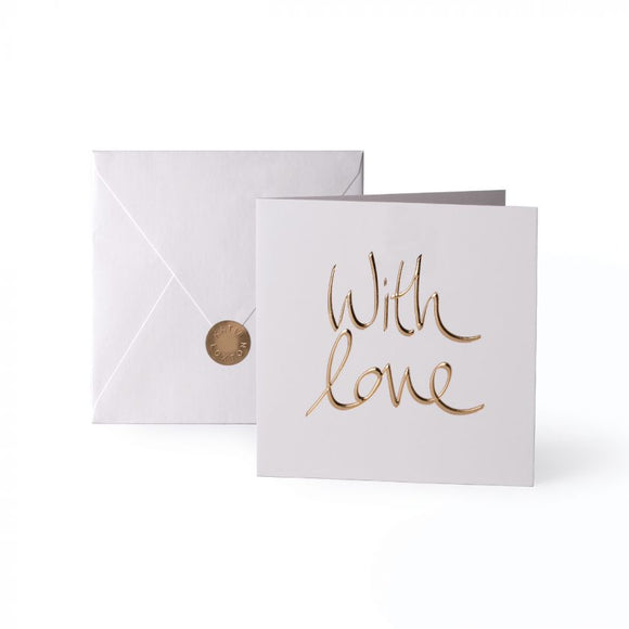 Katie Loxton Greeting Card | With Love | Gold Writing
