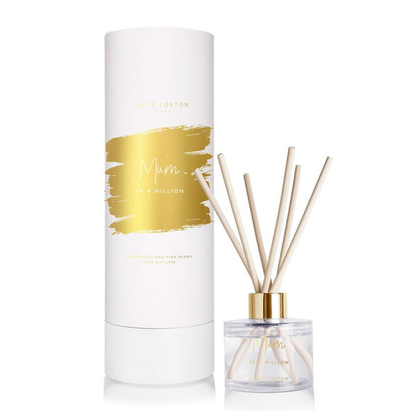 Katie Loxton SENTIMENT REED DIFFUSER | MUM IN A MILLION | GRAPEFRUIT & PINK PEONY | 100ML