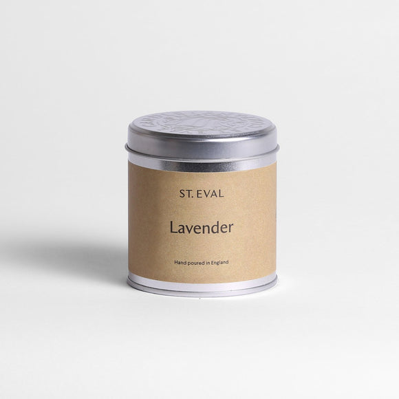 St Eval Lavender scented tin candle