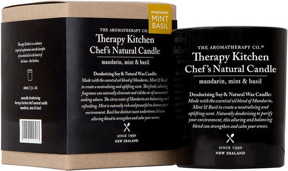 Kitchen Therapy Mandarin Mint and Basil Candle - Gifteasy Online