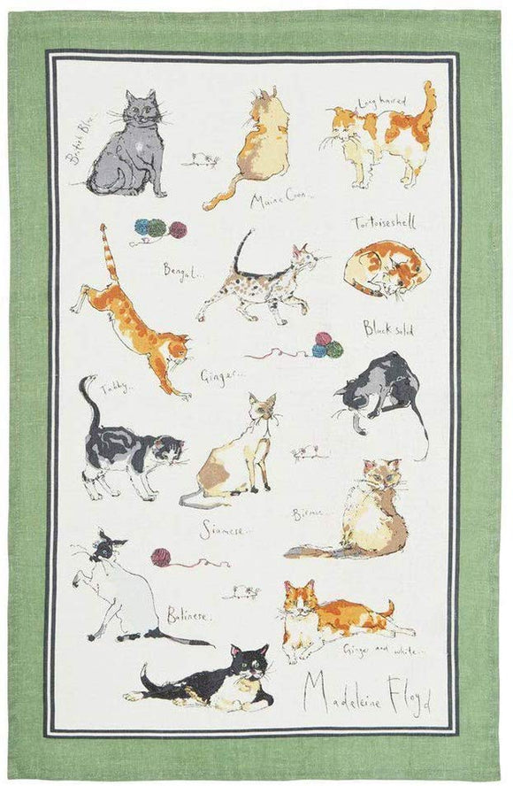 Ulster Weavers Tea Towel Cats Madeleine Floyd Cats Cotton Tea Towel