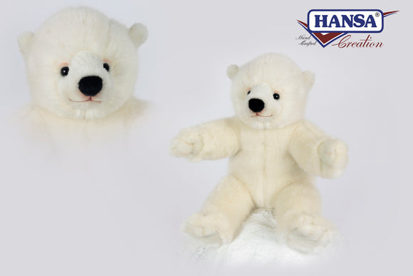 Hansa Polar Bear Baby Cub 30cmH Selling at less then 50% RRP