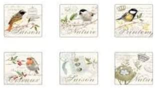 Stow Green Songbird Coasters - Pack of 6