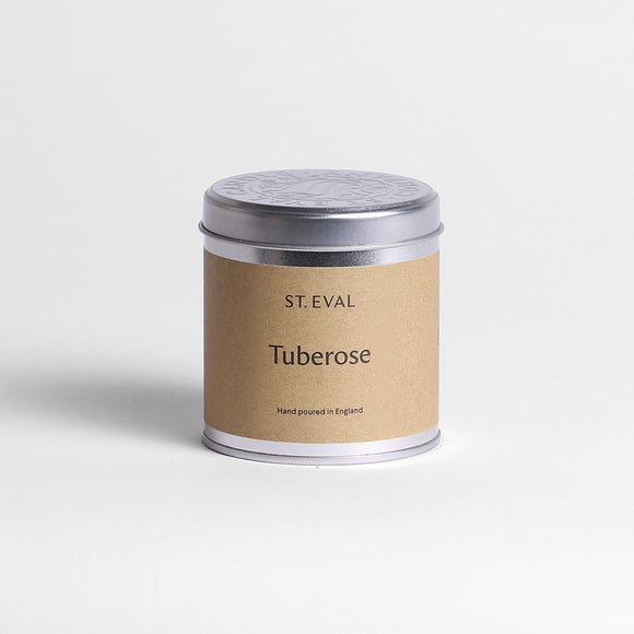 St Eval Tuberose Scented Tin Candle