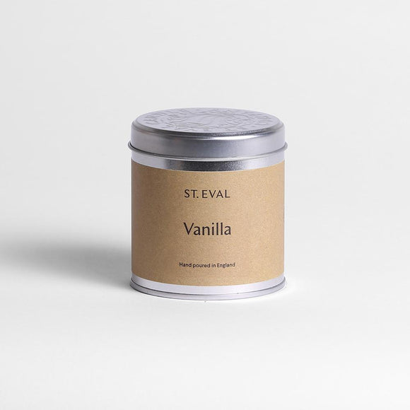 St Eval Vanilla Scented Tin Candle
