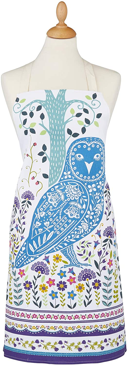 Ulster Weavers Woodland Owl Cotton Apron, Multicolor