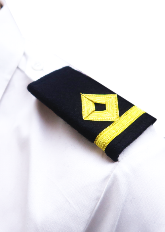 Royal Navy-Professional Mariner Epaulettes 1 bar-Third Officer-Blazer Cloth