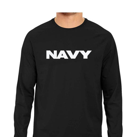 NAVY FULL SLEEVE-TSHIRT-BLACK