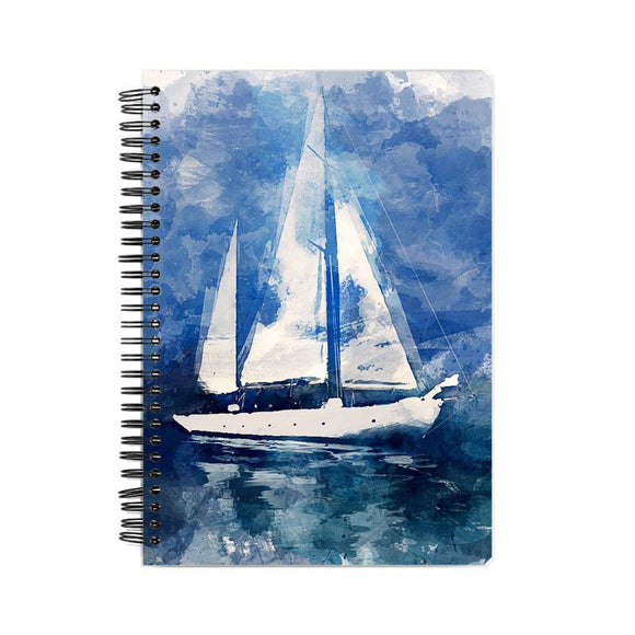 A5 spiral Notebook-Sailing Vessel design