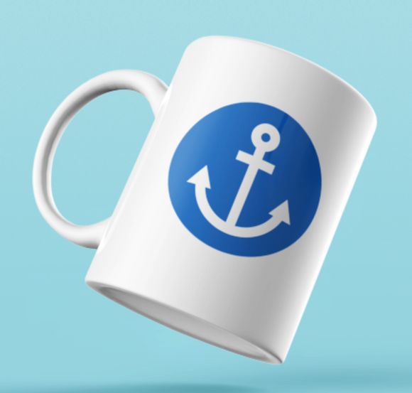 Designer Mug-Blue Anchor