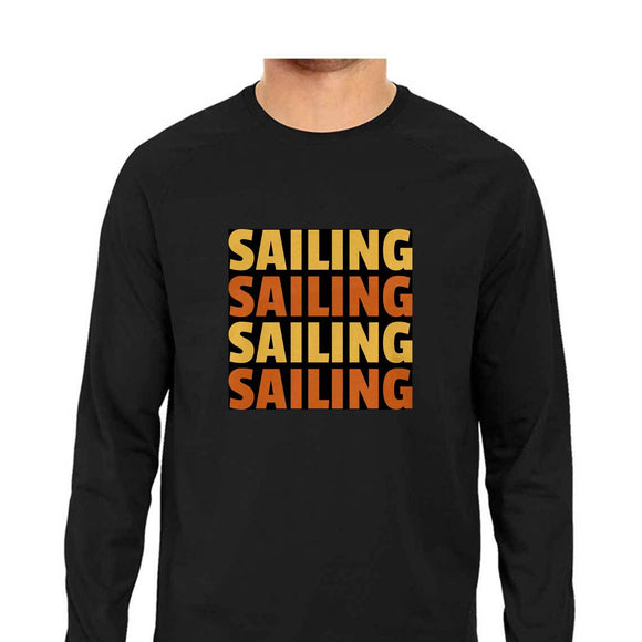 Sailing T-shirt -Black-F/S