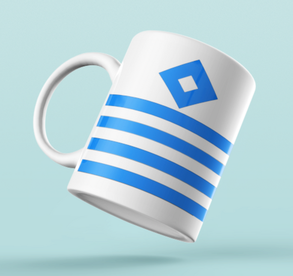 Rank Mug-Blue on White-Captain