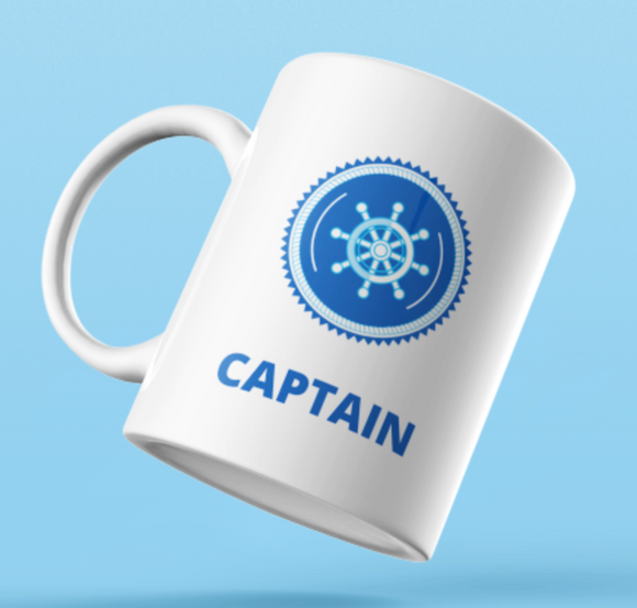 Designer Mug-Captain with Wheel