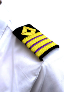 ROYAL NAVY series- Professional Epaulettes-4 bars with diamond-CE-Blazer Cloth