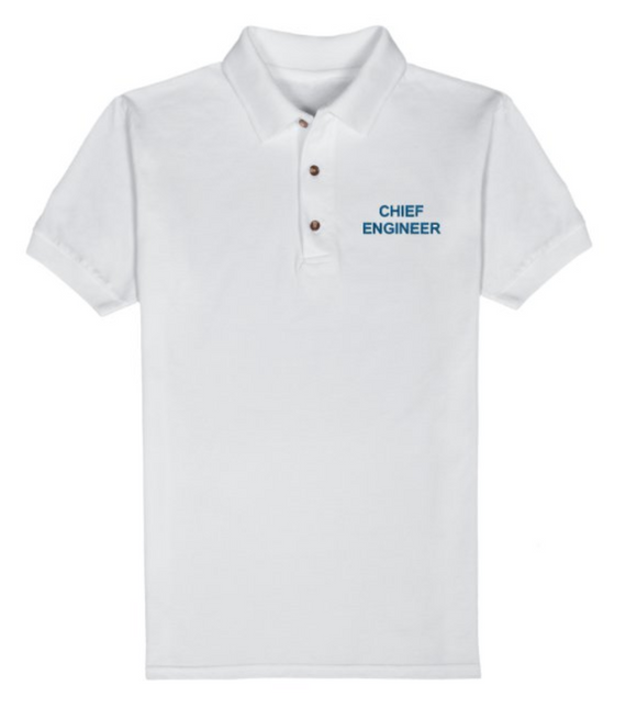 CHIEF ENGINEER T-Shirt-White