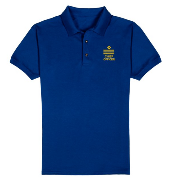 RANK T-Shirt+CHIEF OFFICER-ROYAL Blue