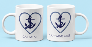 COMBO Mugs-Captain & Captains Girl