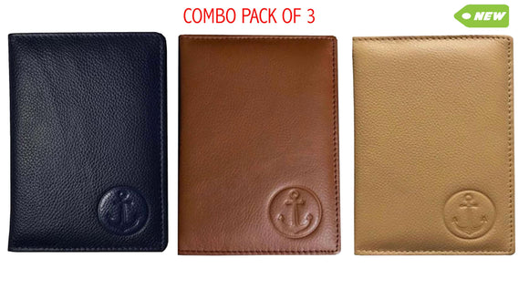 COMBO PACK-Premium Quality Passport/CDC/COC Holder x 3 colours