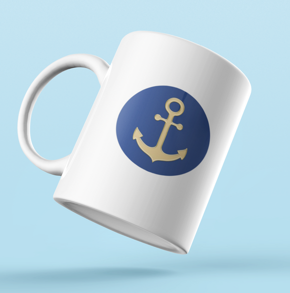 Designer Mug-Golden Anchor