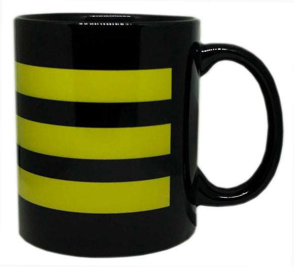 Rank Mug-Black-Chief Officer-Broad Stripes
