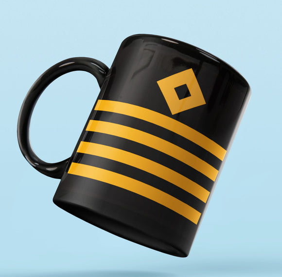Rank Mug-Full Black-Captain