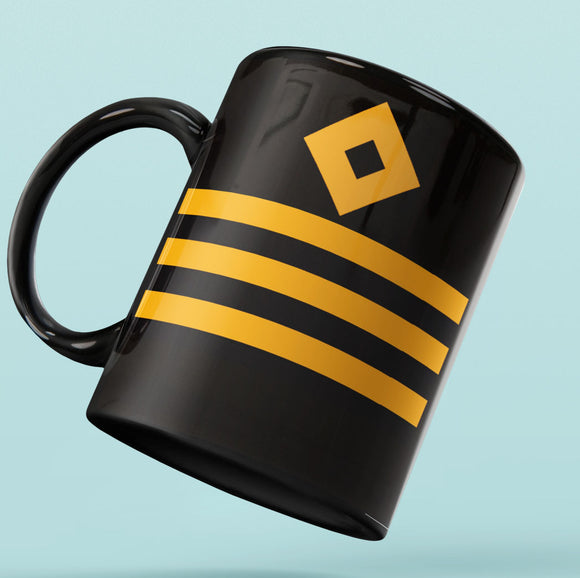 Rank Mug-Full Black-Chief Officer