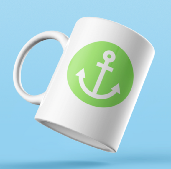 Designer Mug-Green Anchor