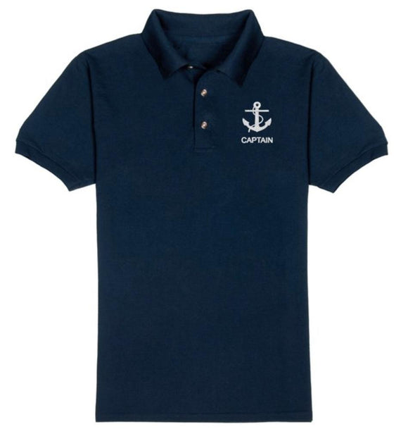 ANCHOR T-Shirt-CAPTAIN-Navy Blue