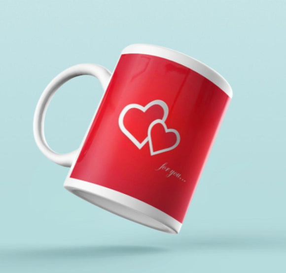 Valentines Mug-Bright RED