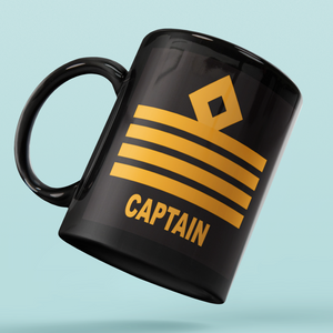 Rank Mug-Captain Epaulettes-BK