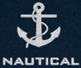 Nautical T-Shirt-Navy Blue-With White Emb