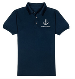 Nautical T-Shirt-Navy Blue-With White Embroidery