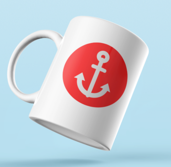 Designer Mug-Red Anchor