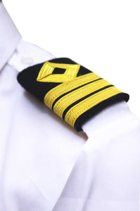 ROYAL NAVY series- Professional Epaulettes-3 bars with diamond-Chief Officer-Blazer Cloth