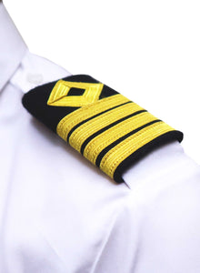 ROYAL NAVY series- Professional Epaulettes-4 bars with diamond-CAPTAIN-Blazer Cloth
