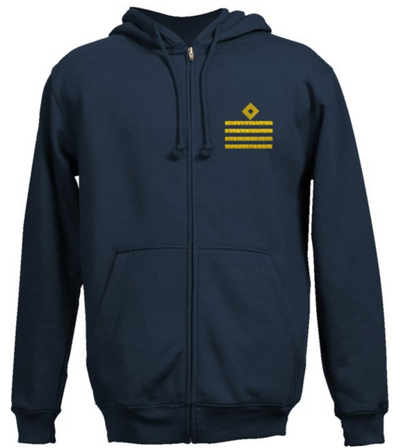 Rank SweatShirt- Captain-Navy Blue
