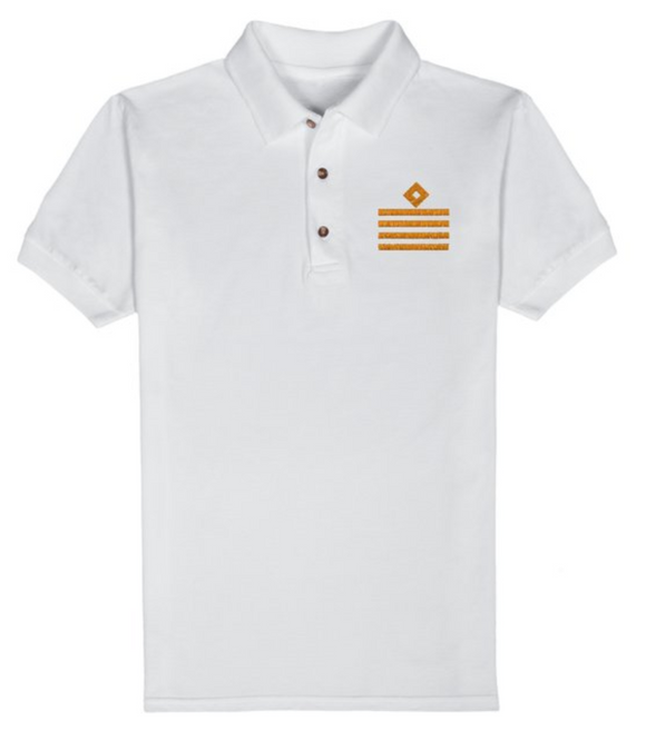 RANK T-Shirt-CAPTAIN-White