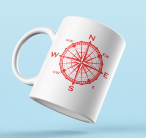 Designer Mug-Red Compass