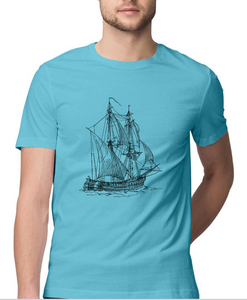 Nautical T-shirt Sailing vessel-Sky Blue