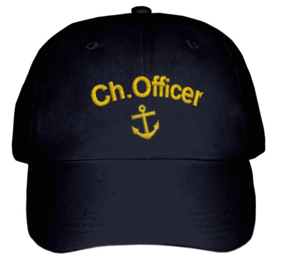Chief Officer'S CAP-Embroidered-Black